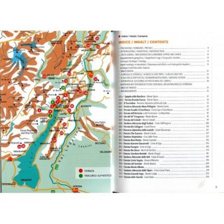 Übersicht Klettersteige Gardasee