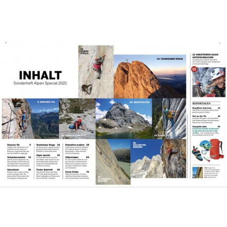 Sonderheft klettern Alpen special