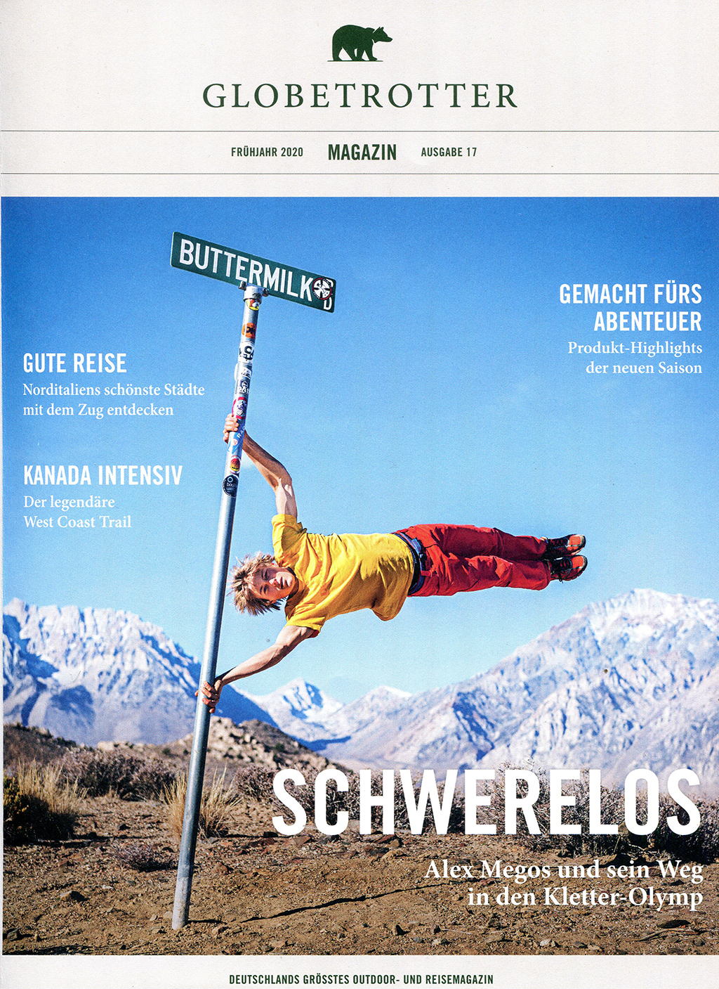 Alex Megos Interview Globetrotter Magazin